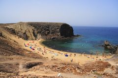 Spiaggia di Papagayo Fotografie Stock
