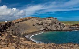 Spiaggia di Papakolea Fotografia Stock Libera da Diritti