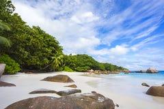 Spiaggia di paradiso a anse Lazio sulle Seychelles 41 Immagini Stock Libere da Diritti