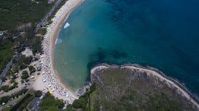 Spiaggia di paradiso, bella spiaggia, spiagge meravigliose intorno al mondo, spiaggia di Grumari, Rio de Janeiro, Brasile, Sudame immagini stock libere da diritti
