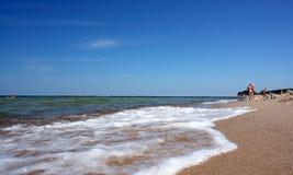 Spiaggia di paradiso, colori intensi Fotografia Stock