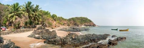 Spiaggia di paradiso, costa di pietra Fotografie Stock Libere da Diritti