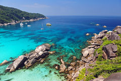Spiaggia di paradiso delle isole di Similan, Tailandia Immagine Stock Libera da Diritti
