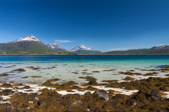Spiaggia di paradiso di Lofoten fotografia stock libera da diritti