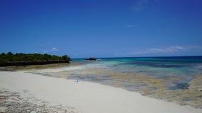 Spiaggia di paradiso, isola del chumbe, Zanzibar fotografia stock