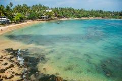 Spiaggia di paradiso, Sri Lanka Fotografia Stock Libera da Diritti