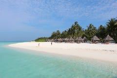 Spiaggia di paradiso sulle Maldive Fotografie Stock Libere da Diritti