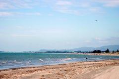 Spiaggia di Paraparaumu, Nuova Zelanda immagine stock libera da diritti