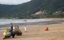 Spiaggia di Patong Immagini Stock Libere da Diritti