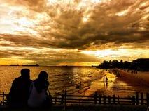 Spiaggia di patra di Banua Immagini Stock