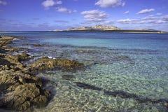 Spiaggia di Pelosa della La, sassari Fotografia Stock
