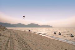 Spiaggia di Penang Batu Ferringhi Fotografie Stock