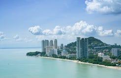 Spiaggia di Penang Batu Ferringhi Fotografia Stock