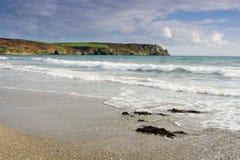 Spiaggia di Pendower Fotografie Stock