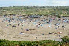 Spiaggia di Perranporth, Cornovaglia immagini stock
