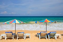 Spiaggia di Phuket Fotografie Stock Libere da Diritti