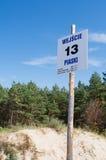 Spiaggia di Piaski sul Mierzeja Wi?lana Immagini Stock Libere da Diritti