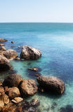 Spiaggia di pietra fotografie stock libere da diritti