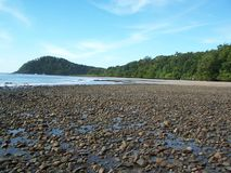 Spiaggia di pietra Fotografia Stock Libera da Diritti