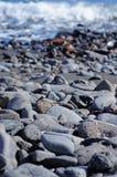 Spiaggia di pietra Fotografia Stock