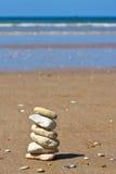 Spiaggia di pietra Fotografie Stock