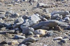 Spiaggia di pietra in Almunecar Fotografia Stock