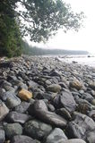 Spiaggia di pietra del ciottolo Fotografie Stock Libere da Diritti