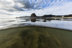 Spiaggia di Piha, Nuova Zelanda Fotografie Stock