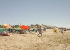 Spiaggia di Pinamar ad estate Immagini Stock Libere da Diritti