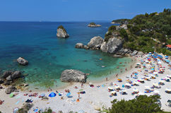 Spiaggia di Piso Kryoneri a Parga, Grecia Fotografia Stock Libera da Diritti