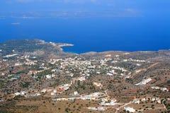 Spiaggia di Plaka - di Almirida, Chania, Creta, Grecia Fotografia Stock Libera da Diritti