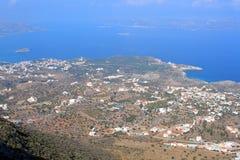 Spiaggia di Plaka - di Almirida, Chania, Creta, Grecia Fotografie Stock