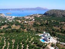 Spiaggia di Plaka - di Almirida, Chania, Creta, Grecia Immagini Stock