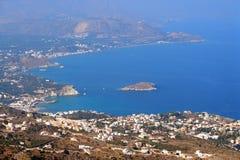 Spiaggia di Plaka - di Almirida, Chania, Creta, Grecia Immagine Stock