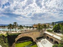 Spiaggia di Plama de Mallorca Immagine Stock Libera da Diritti