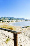 Spiaggia di Playa del Cargador in Alcossebre, Spagna Fotografie Stock