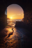 Spiaggia di Plentzia al tramonto fotografie stock libere da diritti