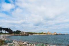 Spiaggia di Plougrescant immagine stock