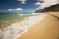 Spiaggia di Polihale, Kauai Fotografie Stock Libere da Diritti