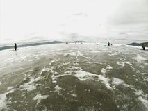 Spiaggia di pollice Fotografie Stock Libere da Diritti