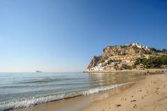 Spiaggia di Poniente a Benidorm Immagini Stock