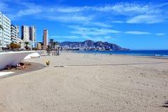 Spiaggia di Poniente, Benidorm, Spagna fotografia stock libera da diritti