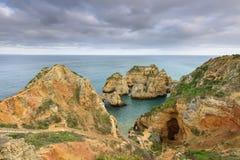 Spiaggia di Ponta da Piedade a Lagos, Algarve Fotografia Stock