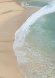 Spiaggia di Porthcurno Fotografia Stock Libera da Diritti