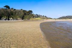 Spiaggia di Porthluney Fotografie Stock