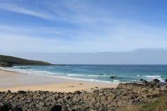 Spiaggia di Porthmeor a St Ives in Cornovaglia, Inghilterra, Regno Unito Immagini Stock Libere da Diritti