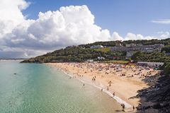 Spiaggia di Porthminster Fotografia Stock Libera da Diritti
