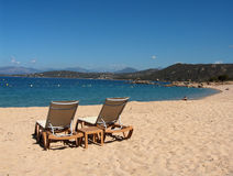 Spiaggia di Porticcio - della Corsica Fotografie Stock