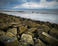 Spiaggia di Portobello, Edimburgo, Scozia fotografia stock