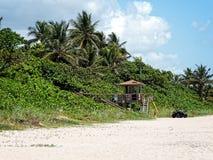 Spiaggia di Post South Florida del bagnino Immagine Stock